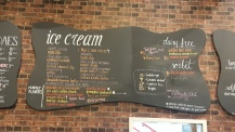 The main ice cream flavor list, including this month's special flavors.